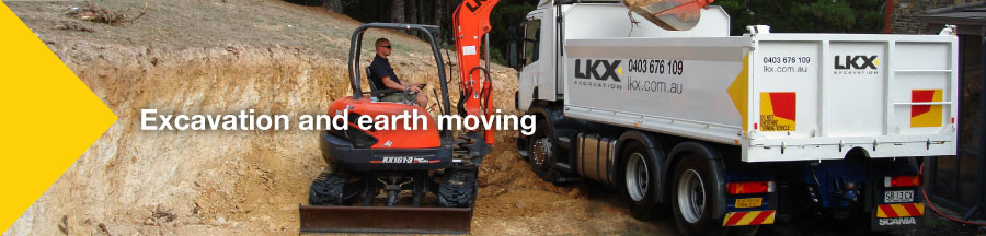LKX 5 Tonne Excavator and Truck - Excavation and Earth Moving