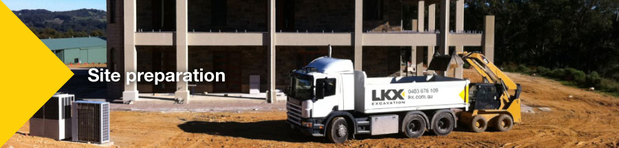LKX tip truck - site preperation